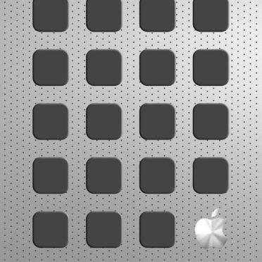 Appleロゴ棚銀クールの iPhone6s / iPhone6 壁紙
