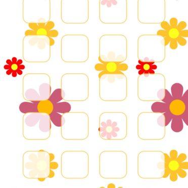 模様イラスト花紫黄棚女子向けの iPhone6s / iPhone6 壁紙