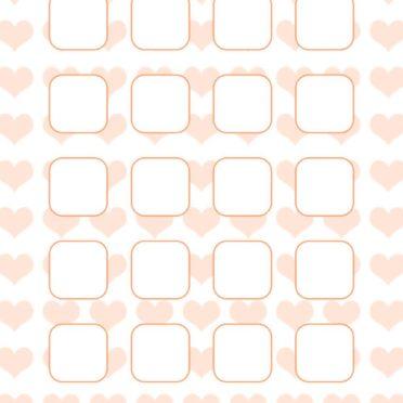 模様ハート橙棚女子向けの iPhone6s / iPhone6 壁紙
