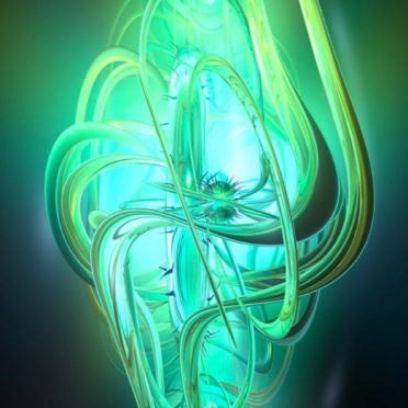 模様イラスト3Dクール緑の iPhone6s / iPhone6 壁紙