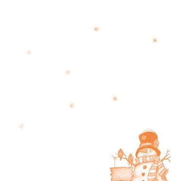 クリスマス橙の iPhone6s / iPhone6 壁紙