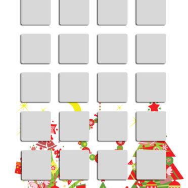 棚クリスマスツリーカラフル銀女子向けの iPhone6s / iPhone6 壁紙