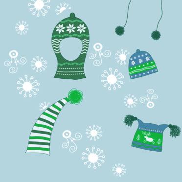 冬雪帽子緑可愛い女子向けの iPhone6s / iPhone6 壁紙