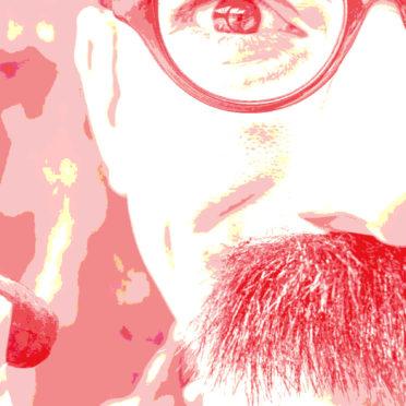 キャラクター男性眼鏡髭赤の iPhone6s / iPhone6 壁紙