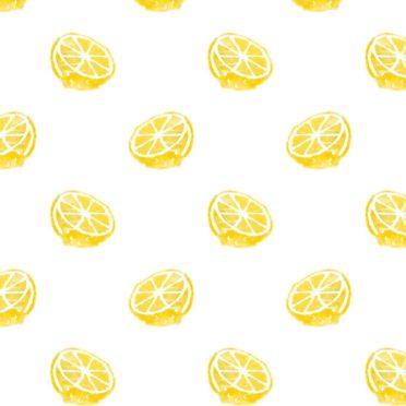 模様イラストフルーツレモン黄色女子向けの iPhone6s / iPhone6 壁紙