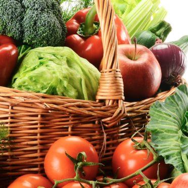 野菜フード赤緑カラフルの iPhone6s / iPhone6 壁紙