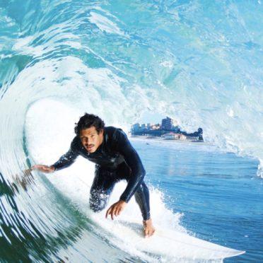 サーフィン海人青の iPhone6s / iPhone6 壁紙