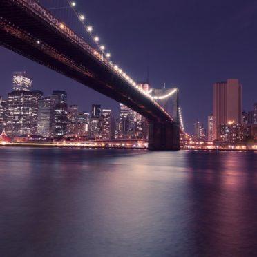 風景夜景港橋の iPhone6s / iPhone6 壁紙