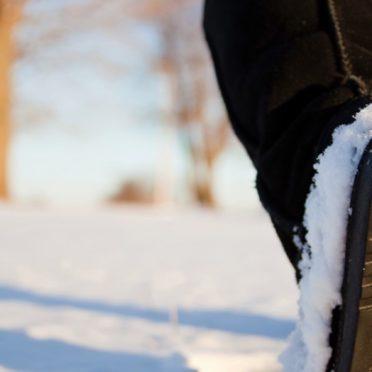 風景雪白靴の iPhone6s / iPhone6 壁紙