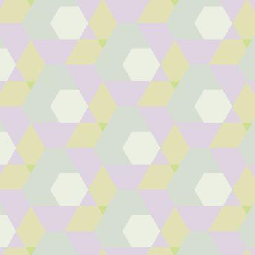 幾何学模様青紫の iPhone6s / iPhone6 壁紙
