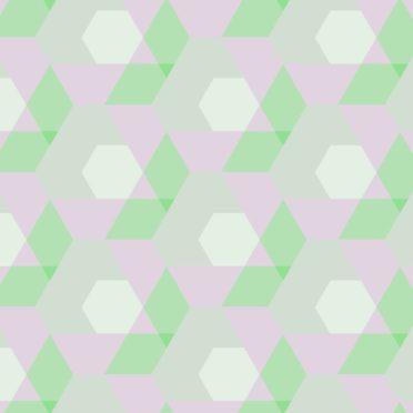 幾何学模様緑桃の iPhone6s / iPhone6 壁紙