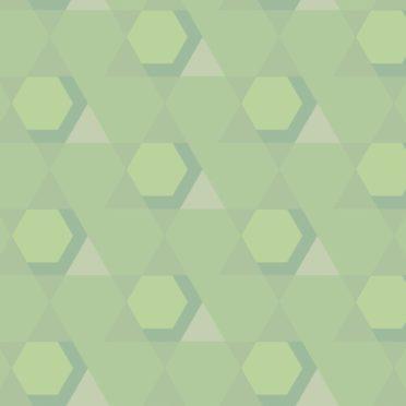 幾何学模様黄緑の iPhone6s / iPhone6 壁紙