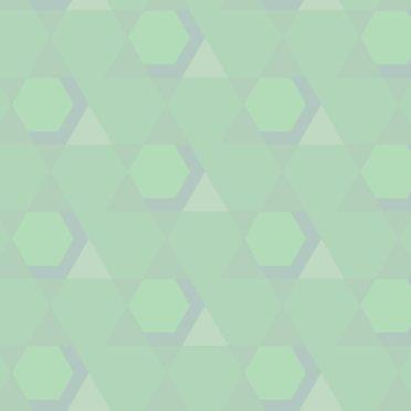 幾何学模様緑の iPhone6s / iPhone6 壁紙