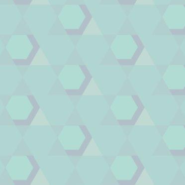 幾何学模様青緑の iPhone6s / iPhone6 壁紙