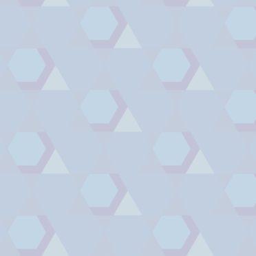 幾何学模様青の iPhone6s / iPhone6 壁紙