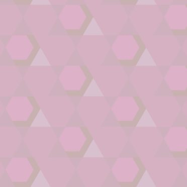 幾何学模様桃の iPhone6s / iPhone6 壁紙