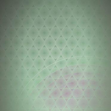 ドット模様グラデーション丸緑の iPhone6s / iPhone6 壁紙