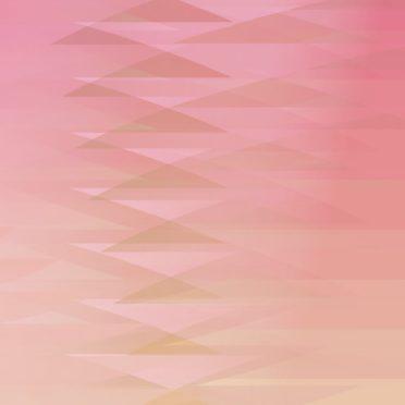 グラデーション模様三角赤の iPhone6s / iPhone6 壁紙