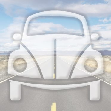 風景車道路青の iPhone6s / iPhone6 壁紙