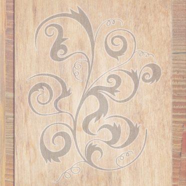 木目茶灰の iPhone6s / iPhone6 壁紙