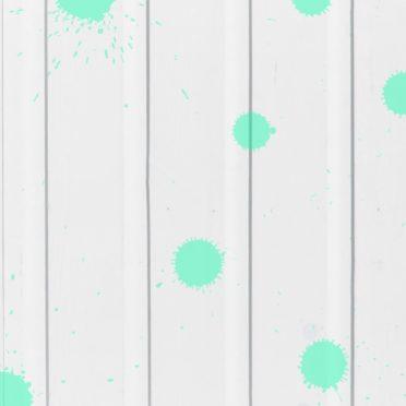 木目水滴白青緑の iPhone6s / iPhone6 壁紙
