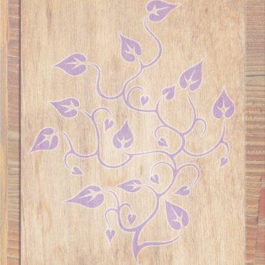木目葉茶紫の iPhone6s / iPhone6 壁紙
