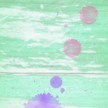 木目水滴緑赤の iPhone6s / iPhone6 壁紙