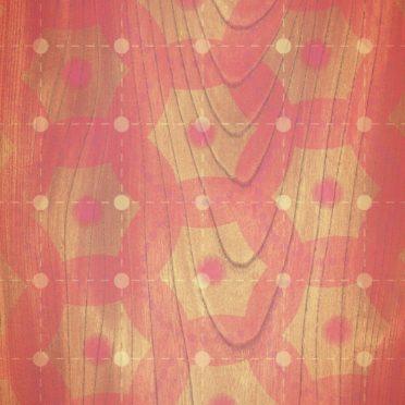 棚木目ドット赤の iPhone6s / iPhone6 壁紙