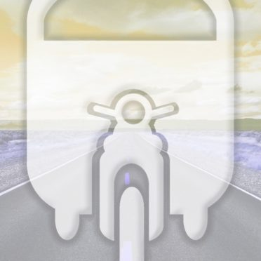 風景道路乗り物黄の iPhone6s / iPhone6 壁紙