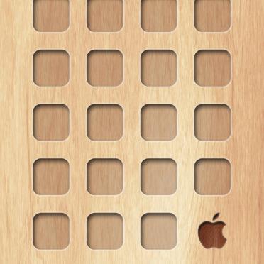 棚木板茶黄Appleロゴ