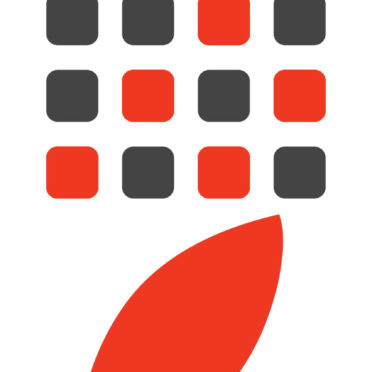 Appleロゴ棚白黒赤