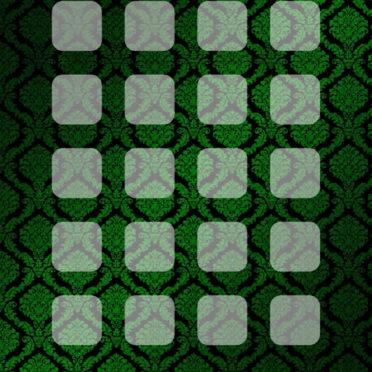 模様緑黒棚