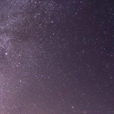 風景雪山夜空