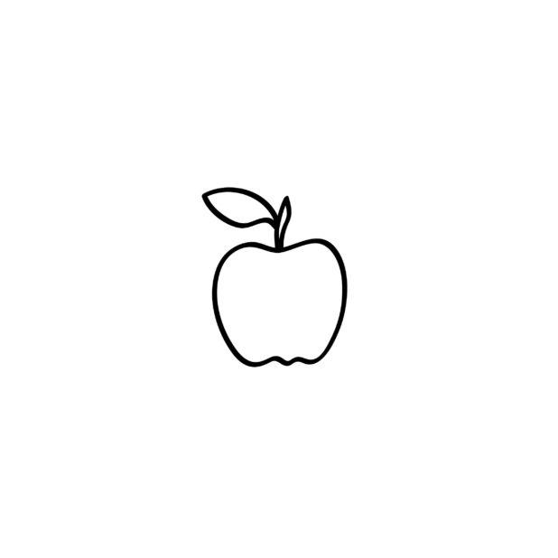 Appleイラスト白黒の iPhone6s Plus / iPhone6 Plus 壁紙