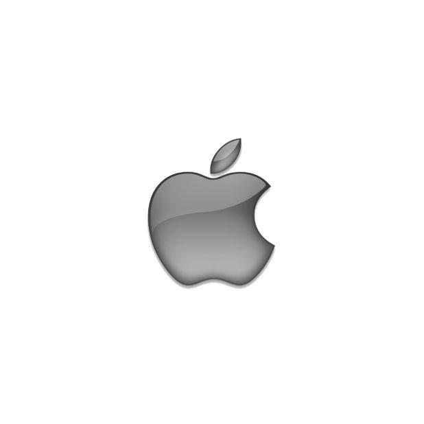 Appleロゴ灰の iPhone6s Plus / iPhone6 Plus 壁紙