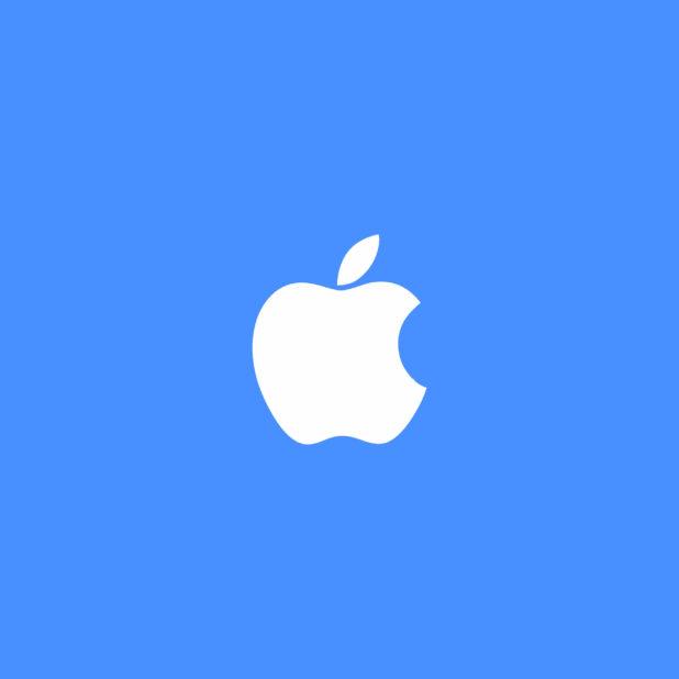 Appleロゴ青白の iPhone6s Plus / iPhone6 Plus 壁紙