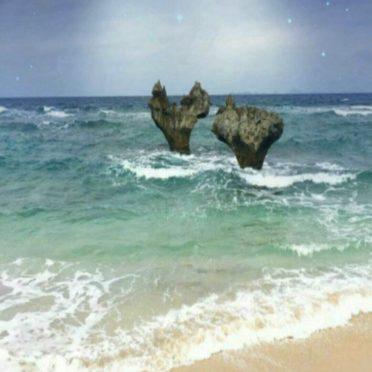 海 夜空の iPhone7 壁紙