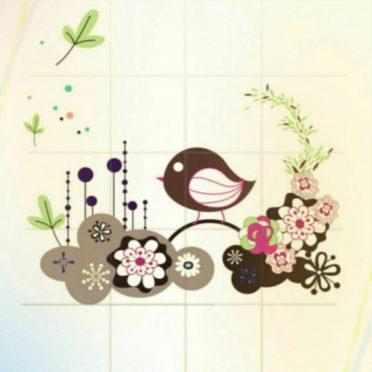 花 小鳥の iPhone7 壁紙