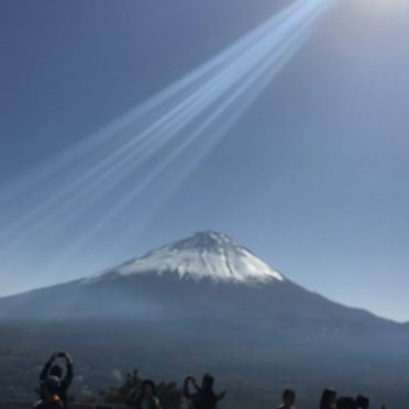 富士山 景色の iPhone7 壁紙