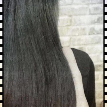 黒髪 ロングヘアの iPhone7 壁紙