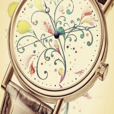 花 時計の iPhone7 壁紙