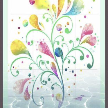 模様 花の iPhone7 壁紙