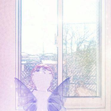 窓辺 妖精の iPhone7 壁紙
