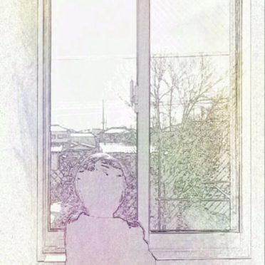 少年 窓辺の iPhone7 壁紙