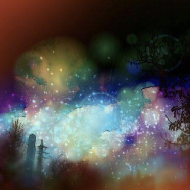 幻想的 夜景の iPhone7 壁紙