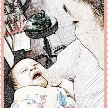 赤ちゃん 美容室の iPhone7 壁紙