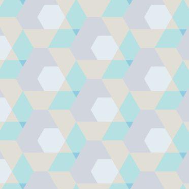 幾何学模様緑黄の iPhone7 壁紙