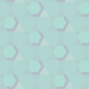 幾何学模様青緑の iPhone7 壁紙