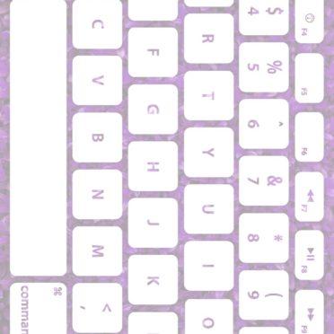 葉キーボード桃白の iPhone7 壁紙