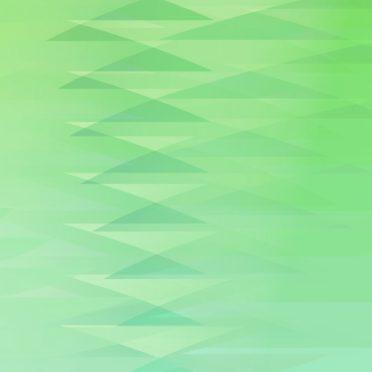 グラデーション模様三角緑の iPhone7 壁紙